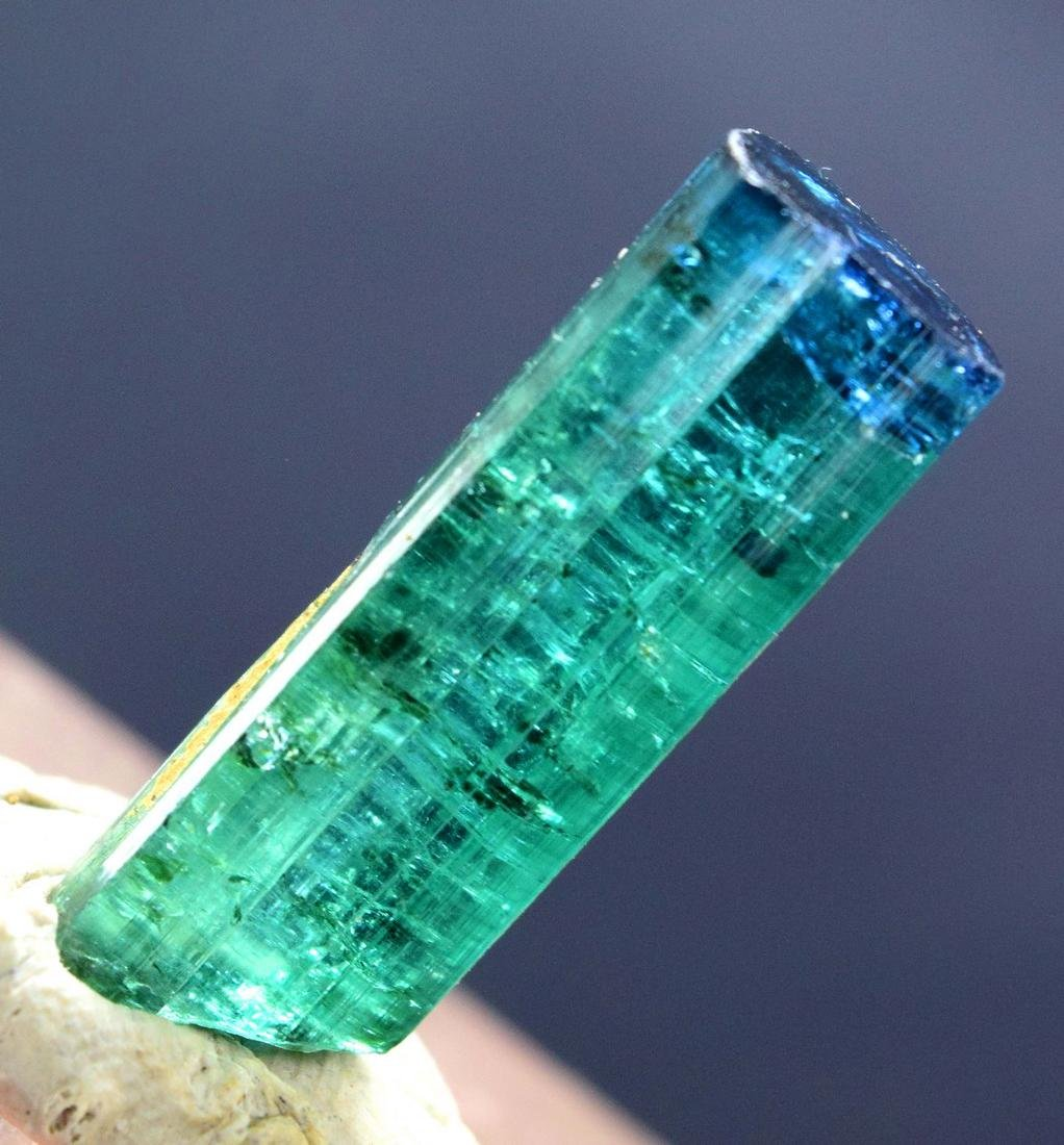 Terminated Blue Cap Tourmaline Crystal - 6