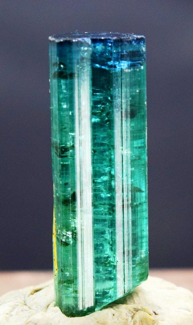 Terminated Blue Cap Tourmaline Crystal - 7