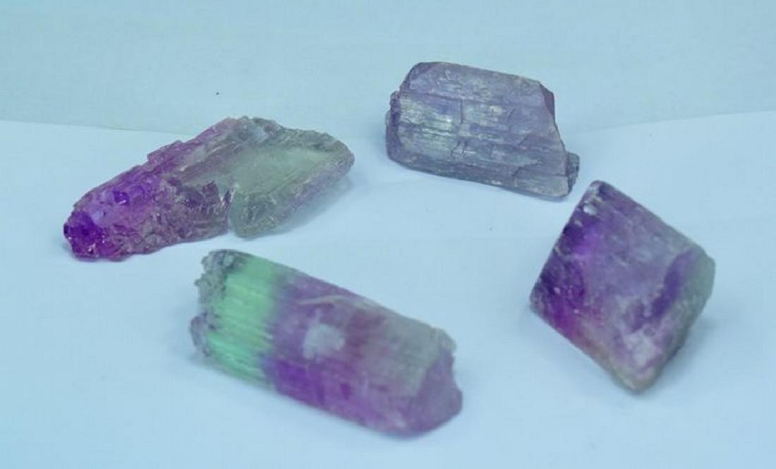 Natural Bi Color Kunzite Crystals Lot
