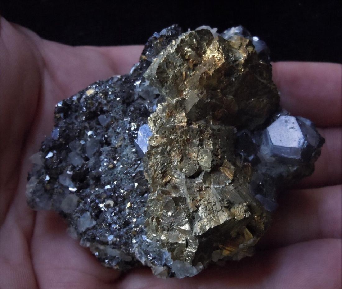 Chalcopyrite, Galena & Calcite