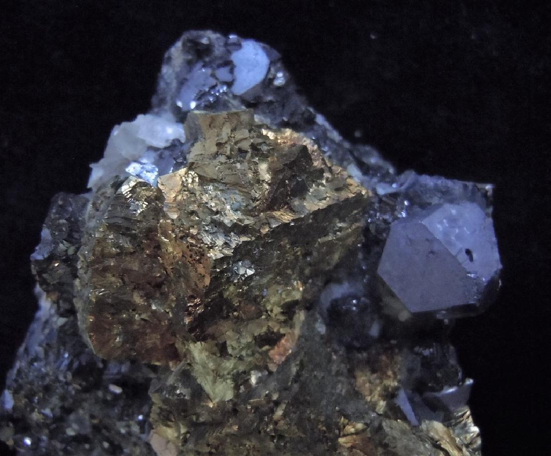 Chalcopyrite, Galena & Calcite - 6
