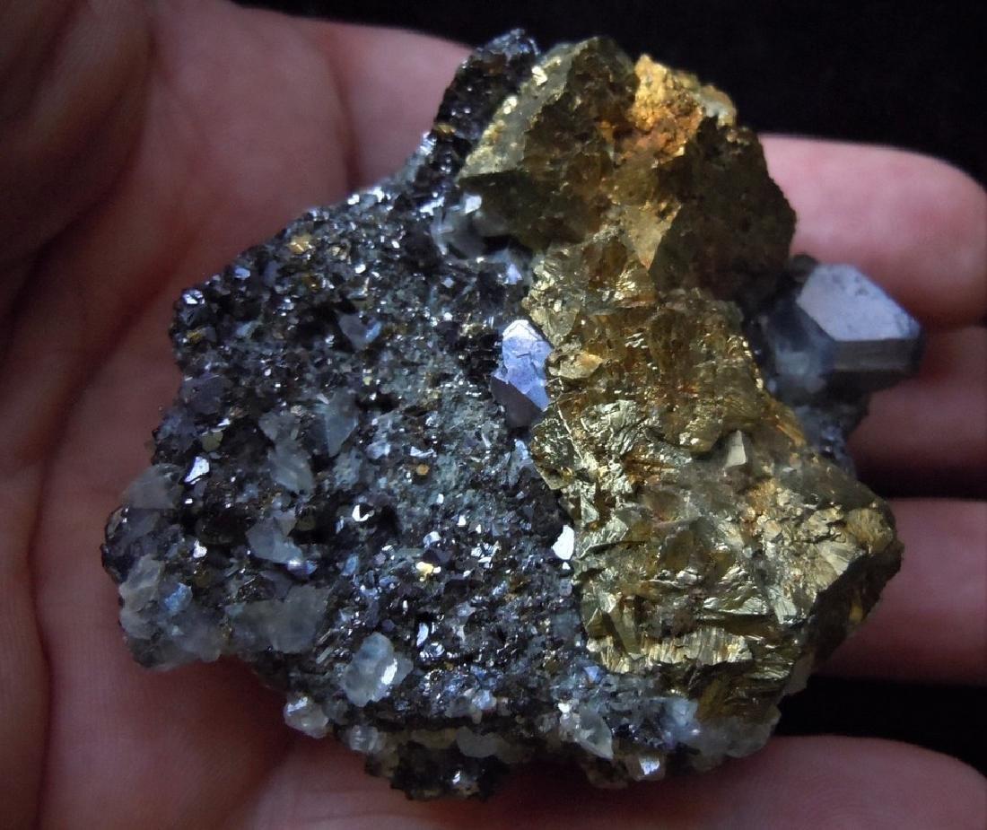 Chalcopyrite, Galena & Calcite - 7