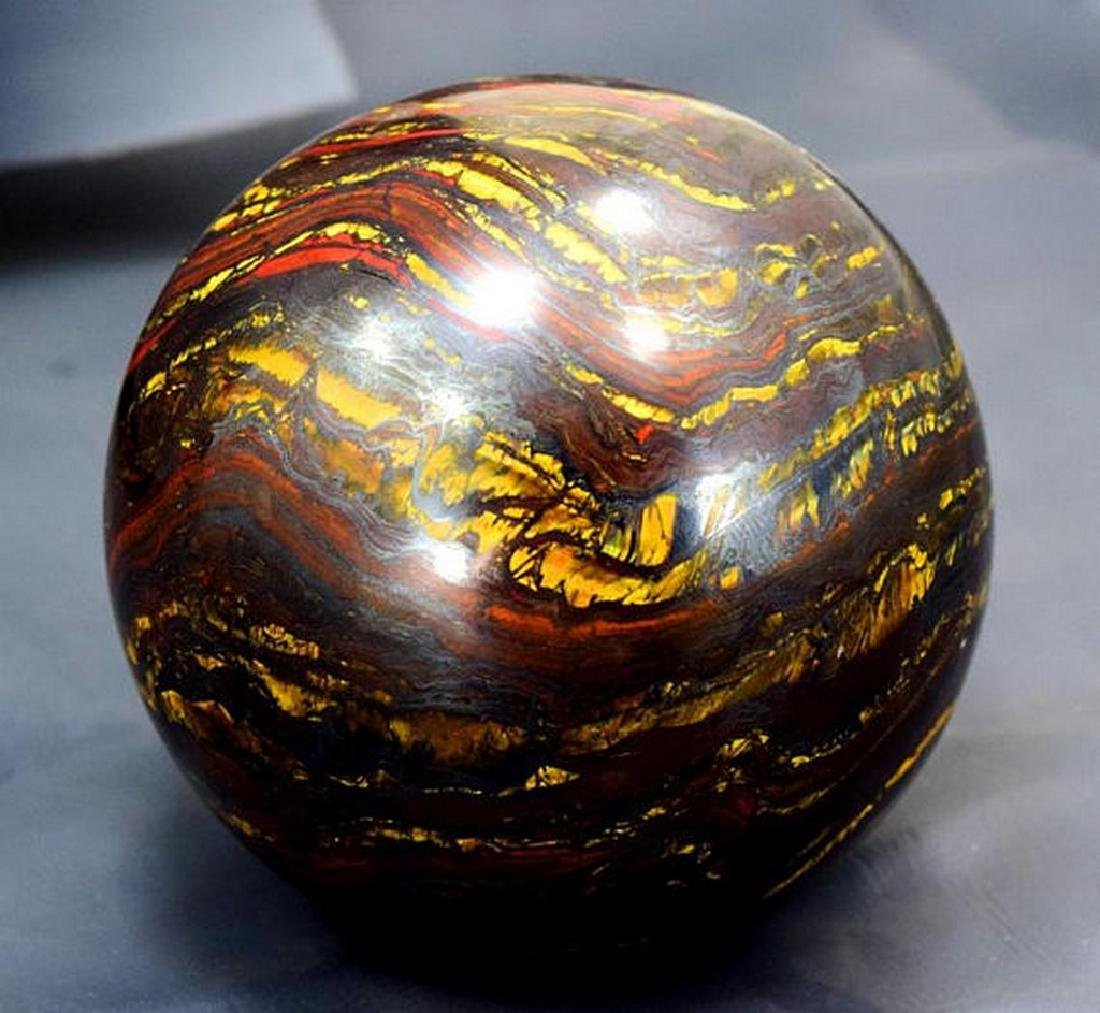 Top Quality Polished Multi-Color Tiger Eye / Iron Stone - 4