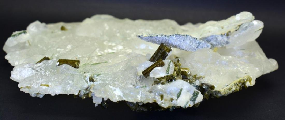 Natural  Pollucite and Tourmaline Combine Specimen