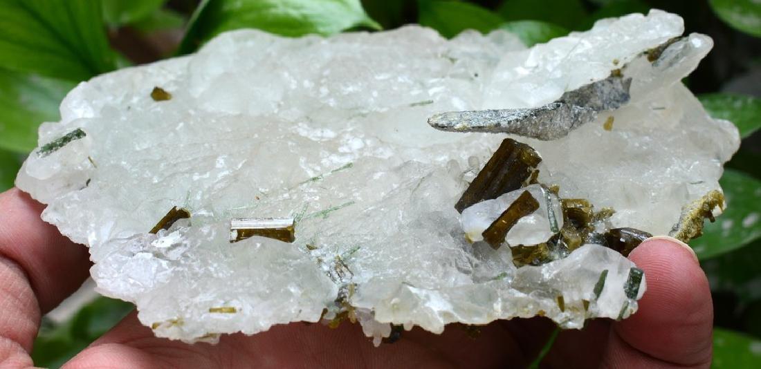 Natural  Pollucite and Tourmaline Combine Specimen - 3
