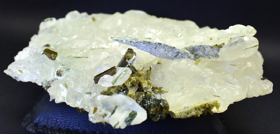 Natural  Pollucite and Tourmaline Combine Specimen - 5