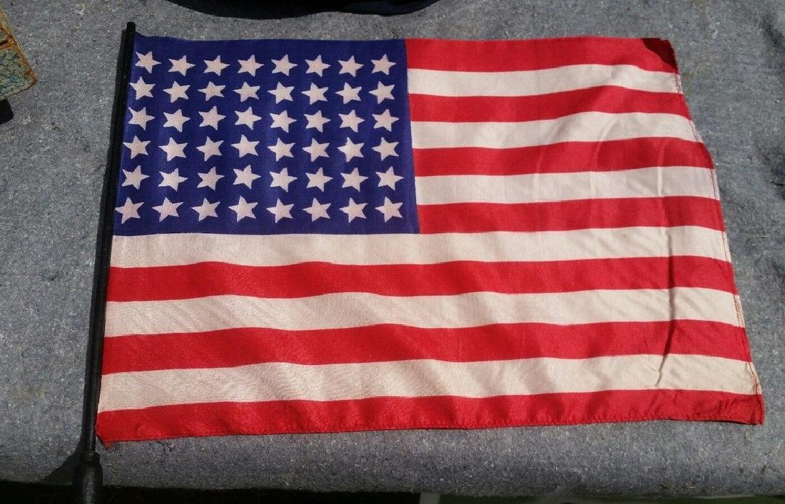 Rare Gold Star Mothers Flag 48 Star WWII Wood Cane