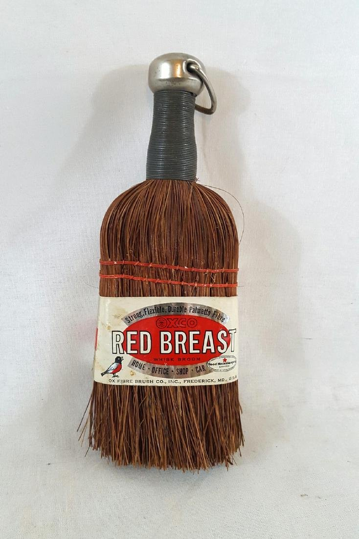 Unused Vintage Whisk Broom With Original Label Ca 1950