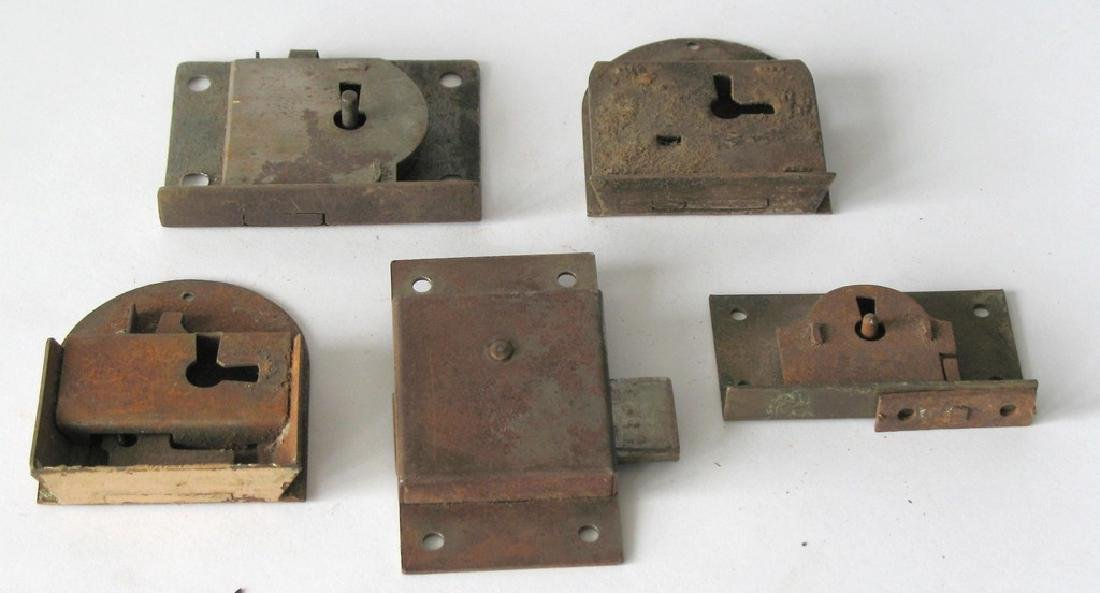Group of Vintage Iron Locks