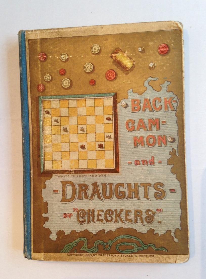 1889 Game Board Manual Backgammon & Checkers