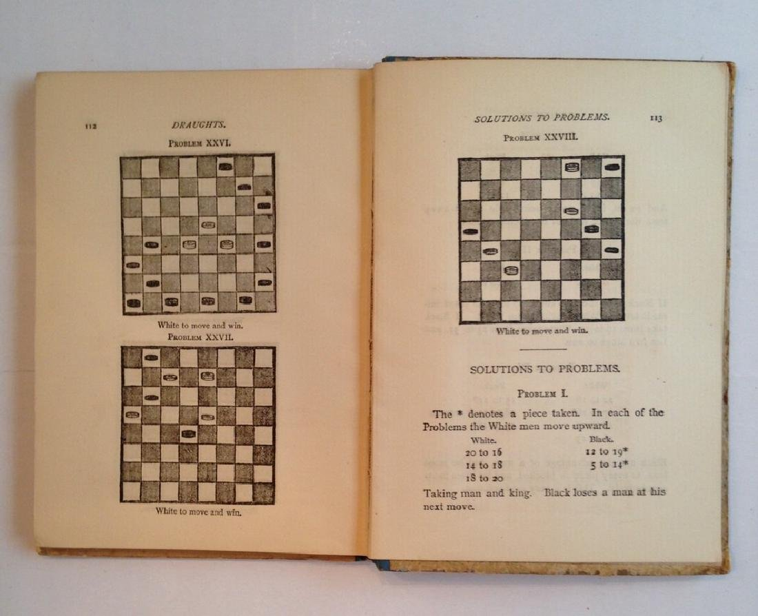 1889 Game Board Manual Backgammon & Checkers - 4