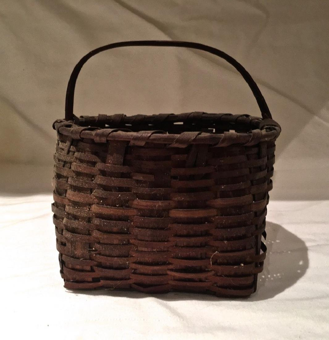 Early 20th Century Small Hickory & Ash Split Basket
