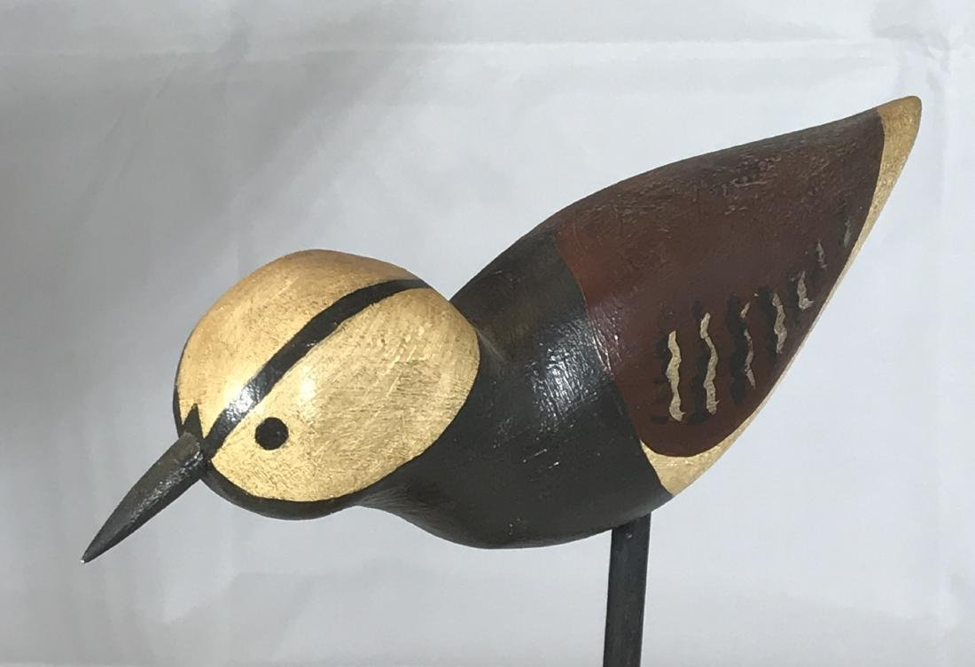 Painted Bird Carving - 2