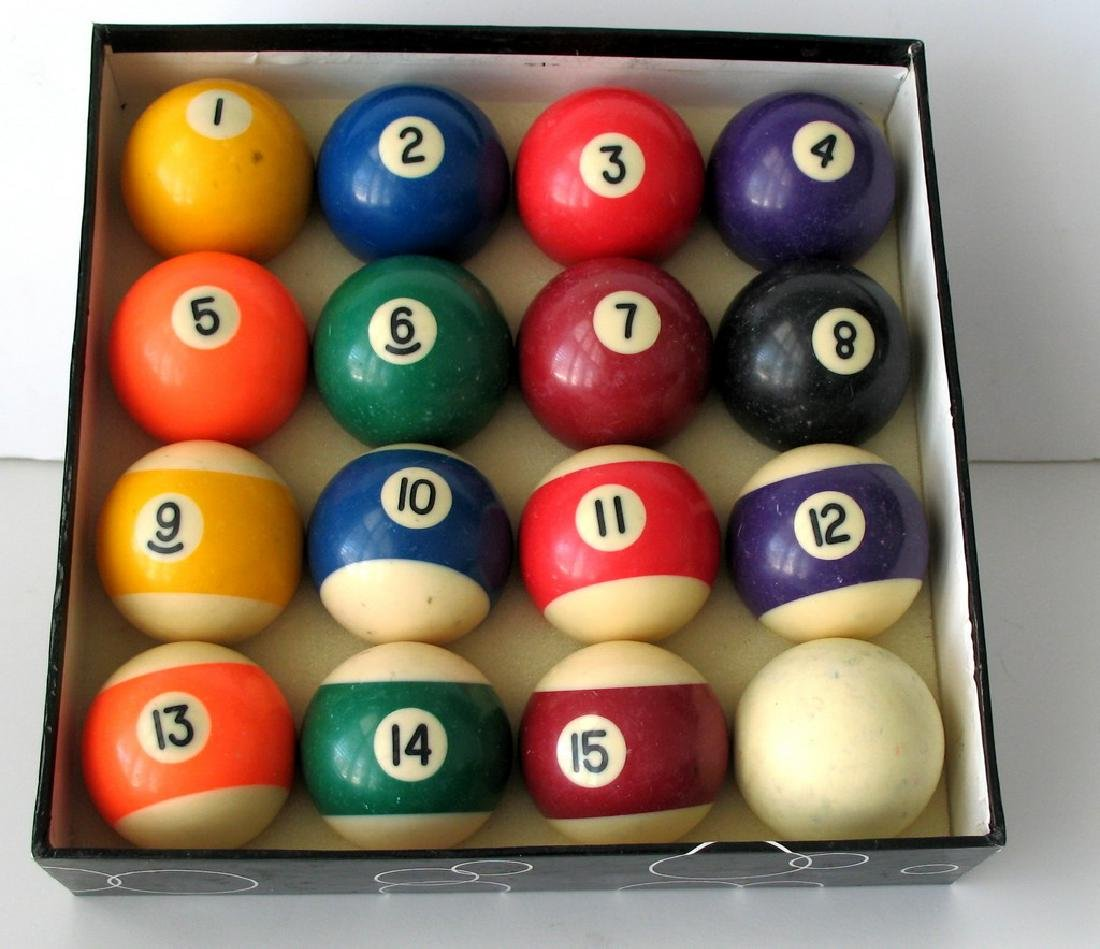 Vintage Set of Billiard Balls