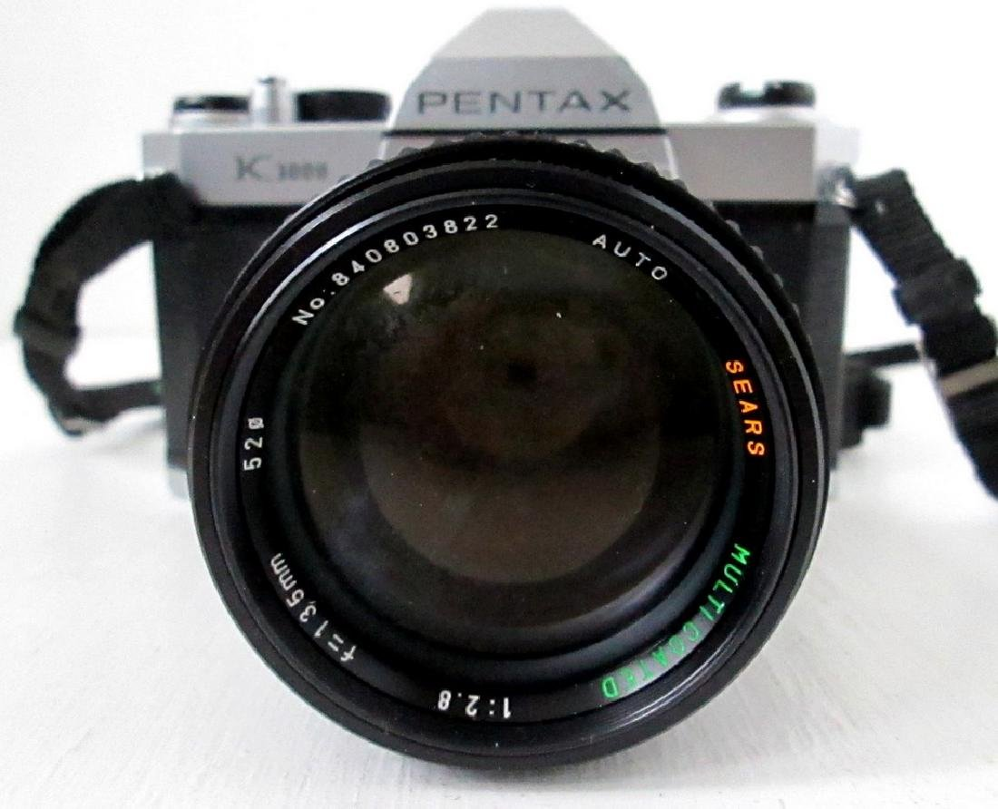 Pentax SLR Camera With Telephoto Lens - 2