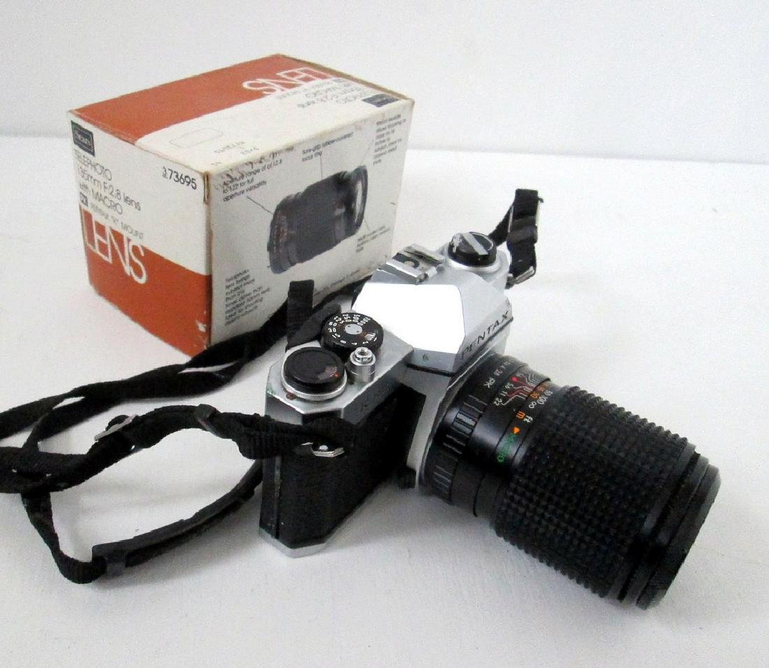 Pentax SLR Camera With Telephoto Lens - 5
