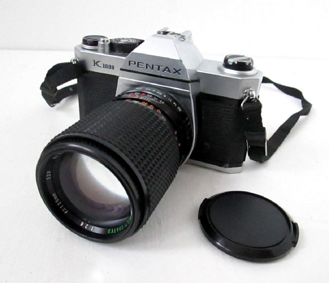 Pentax SLR Camera With Telephoto Lens - 7