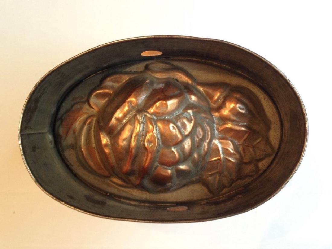 Rose Motif Copper & Tin Mold