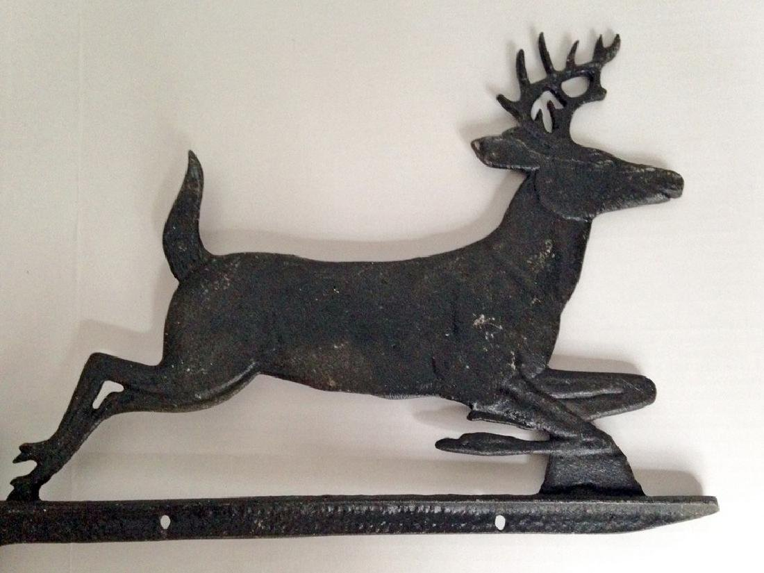 1950s Deer Sign Holder Cast Aluminum
