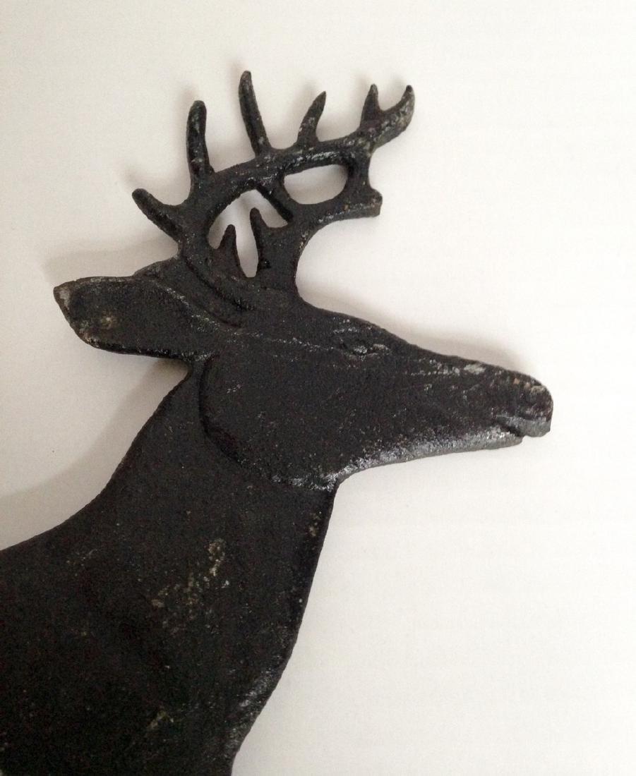 1950s Deer Sign Holder Cast Aluminum - 2