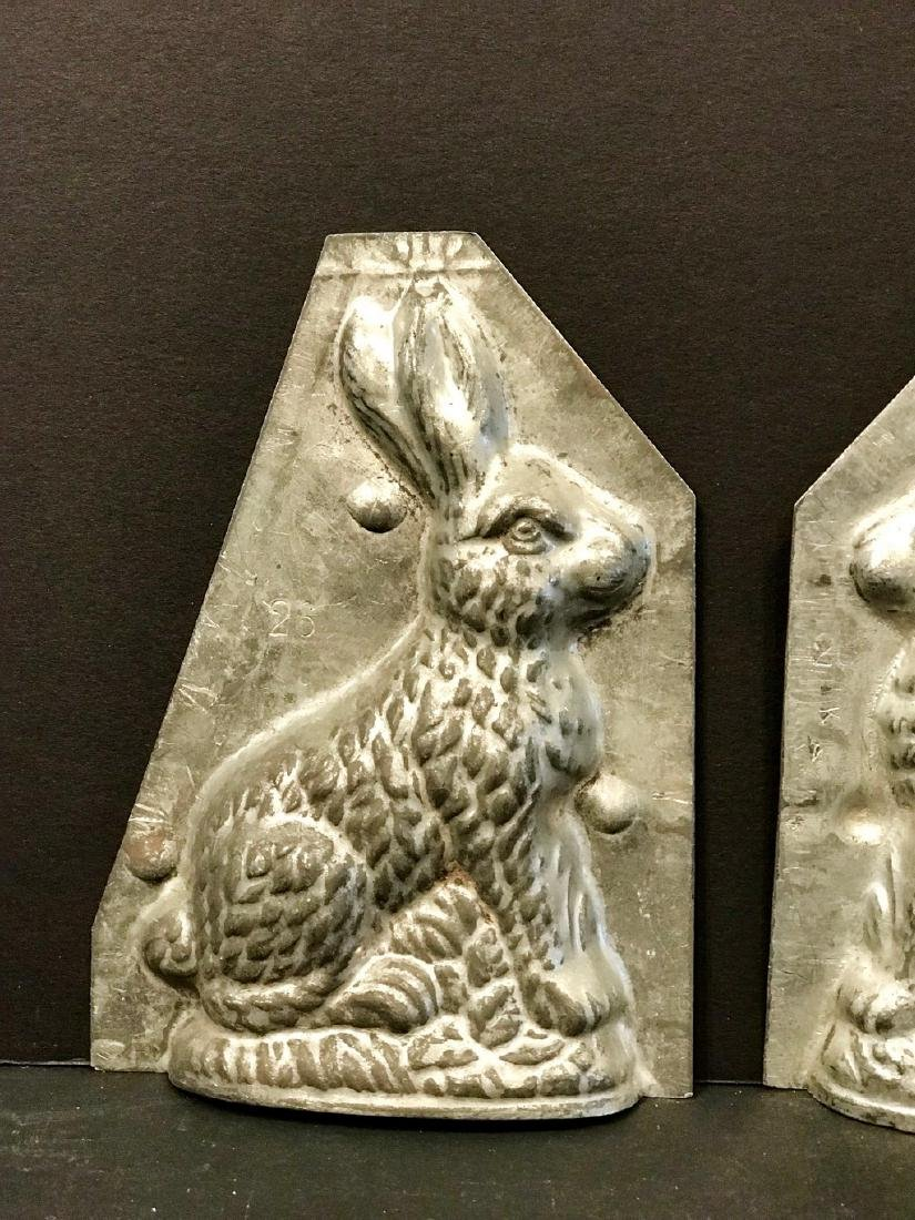 Two Piece Diminutive Rabbit Chocolate Mold, C. 1900 - 3