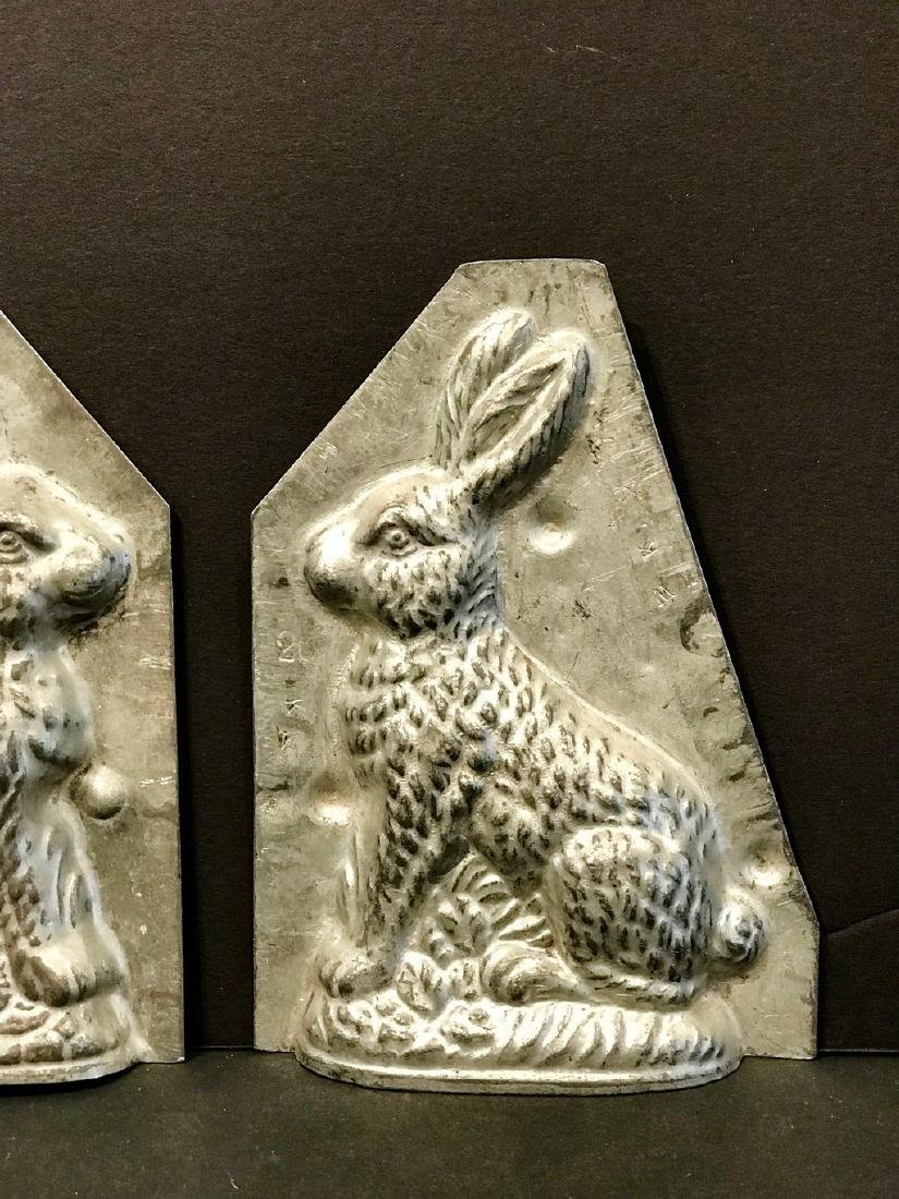 Two Piece Diminutive Rabbit Chocolate Mold, C. 1900 - 4