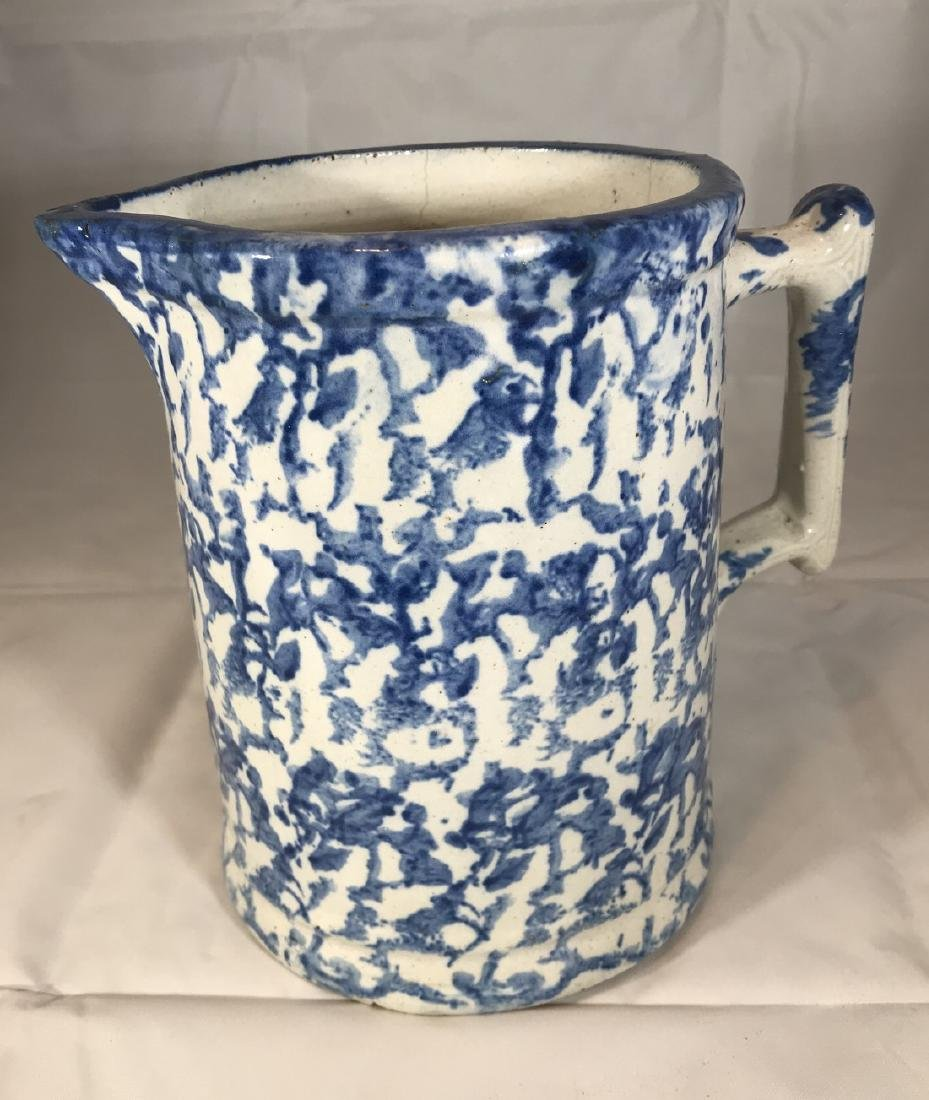 Blue Spongeware Pitcher