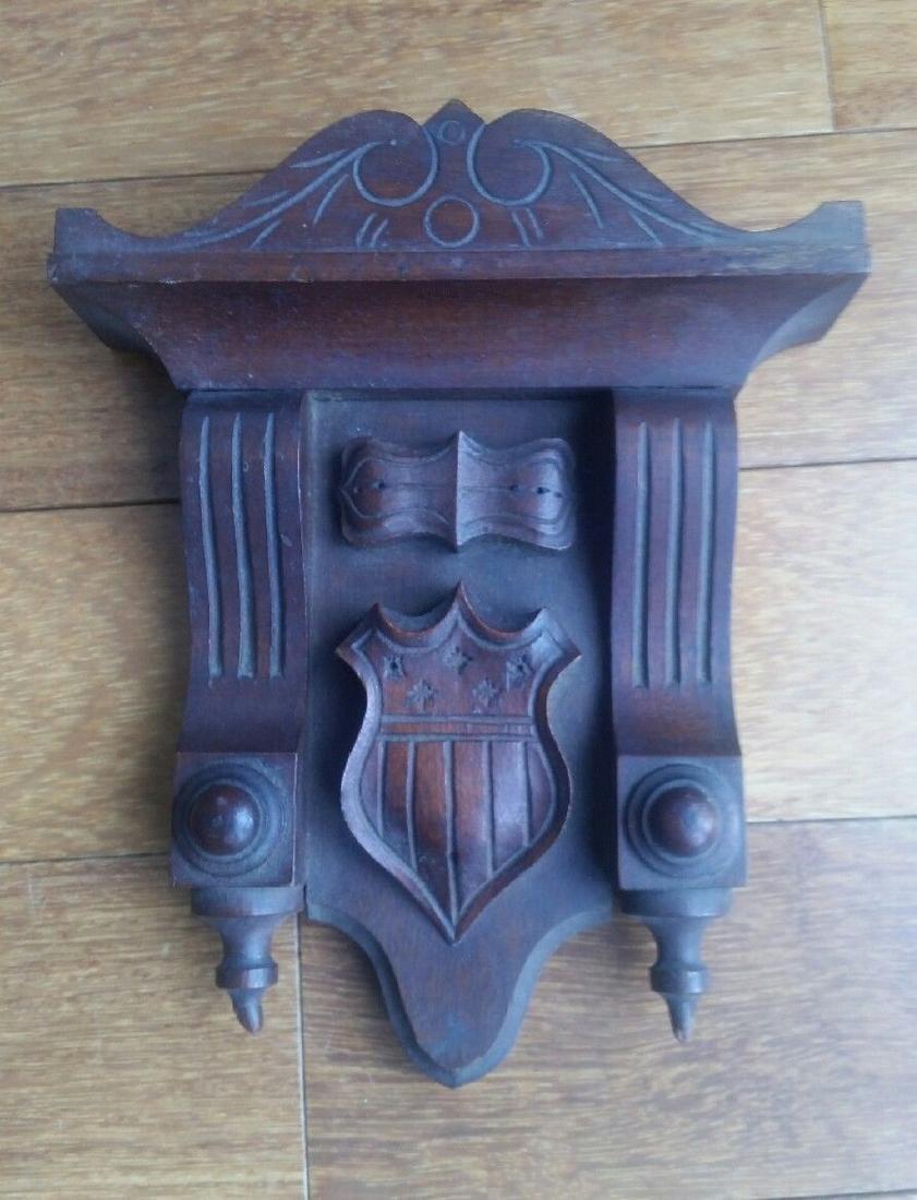Centennial Wood Pediment 13 Star Federal Shield Carving