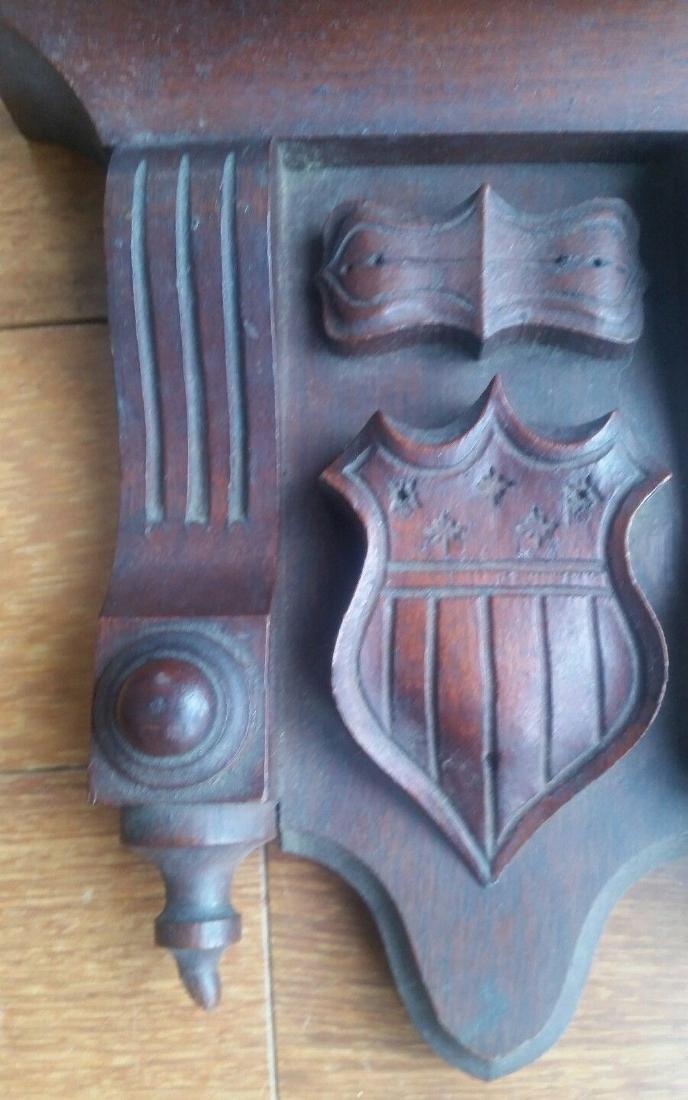 Centennial Wood Pediment 13 Star Federal Shield Carving - 2