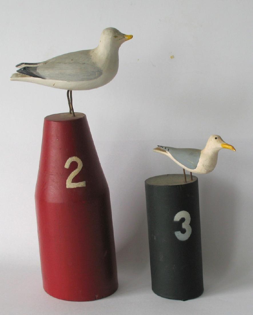 Pair of Vintage Seagull Carvings