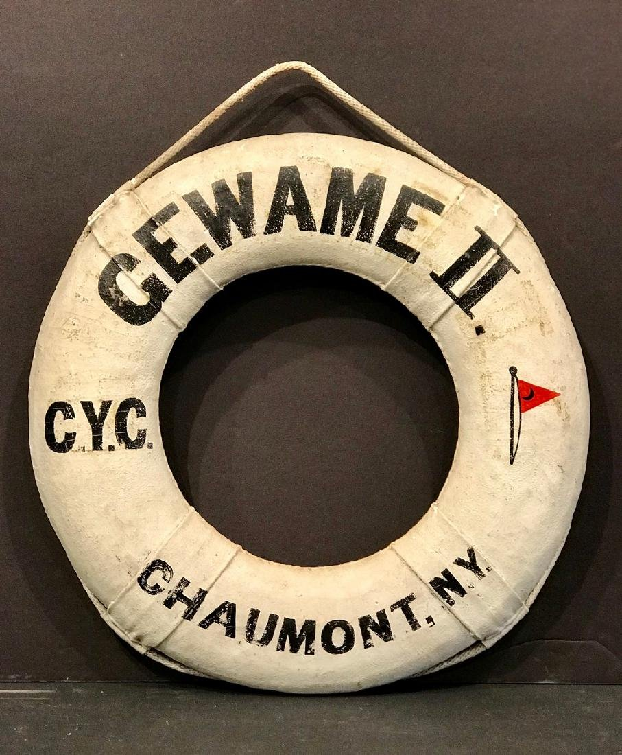 Life Ring Boat Preserver Sign, Early 20th Century