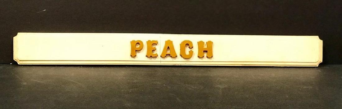 Peach Sign, C. 1930s