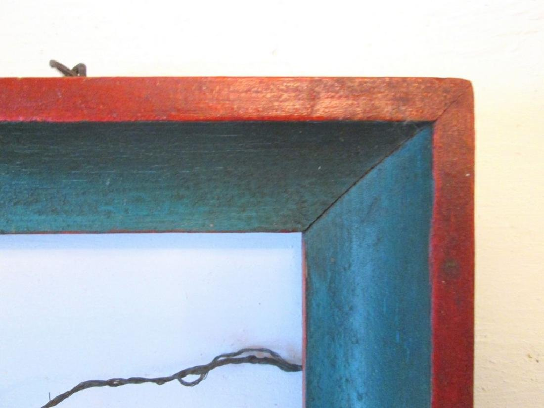 Early Painted Pine Frame - 8