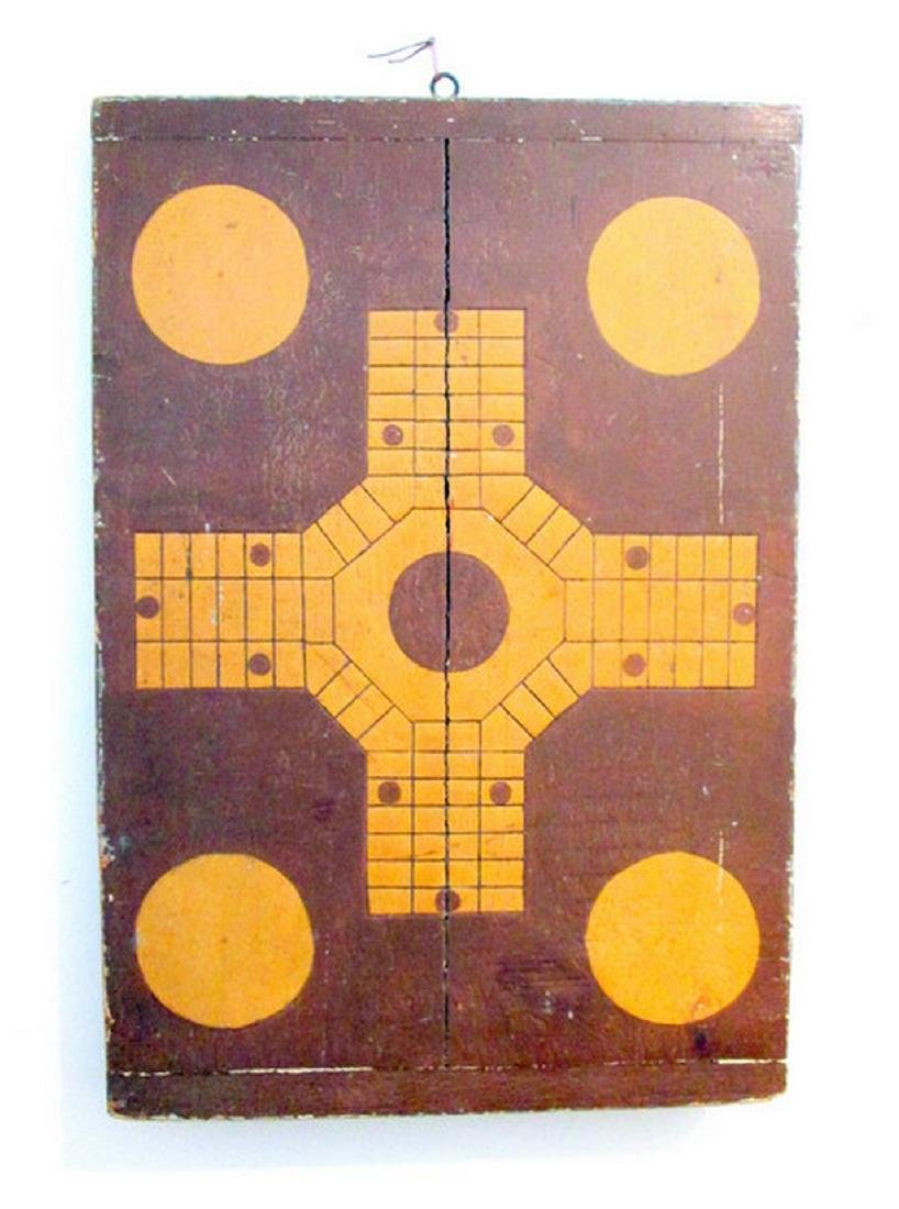 Parcheesi & Checkers Painted Gameboard