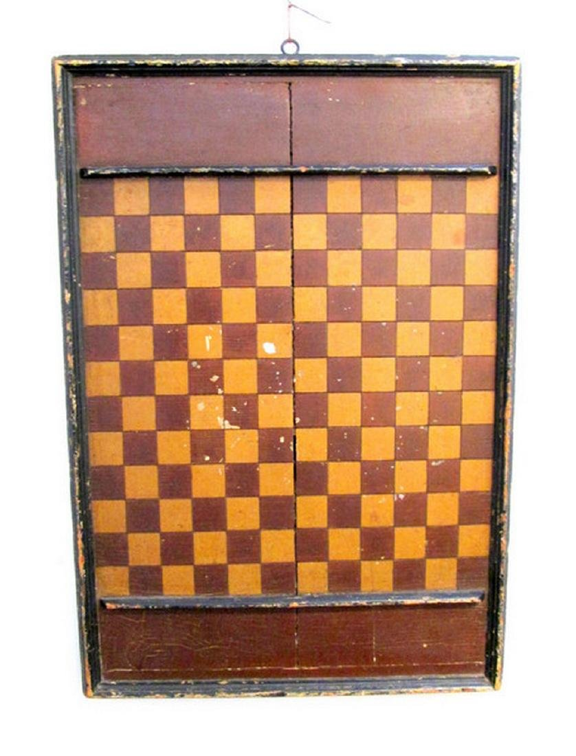 Parcheesi & Checkers Painted Gameboard - 2