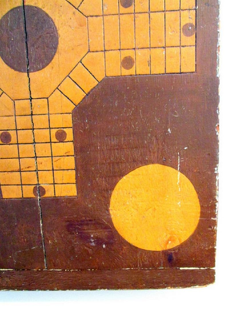 Parcheesi & Checkers Painted Gameboard - 5