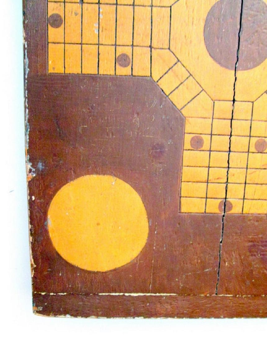 Parcheesi & Checkers Painted Gameboard - 6