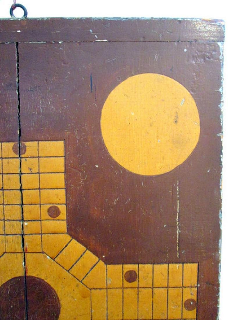 Parcheesi & Checkers Painted Gameboard - 7