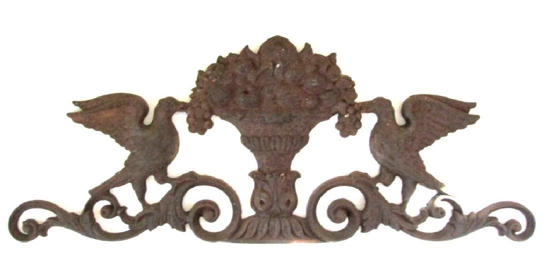 Doves With Fruit Urn Wall Plaque