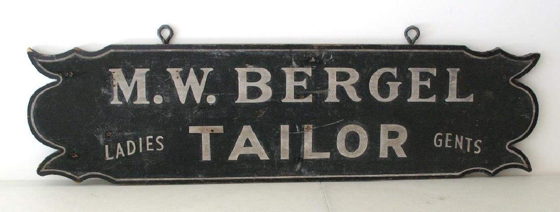 "Early ""Ladies and Gents"" Tailor Sign"