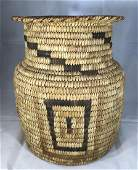 Early 20th Century Papago Indian Basket 3 Color Weave
