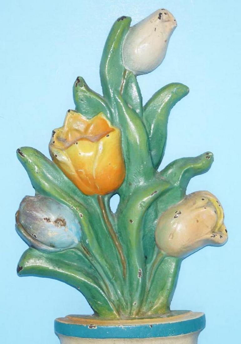 Tulip Flowers in Pot Cast iron Doorstop - 5