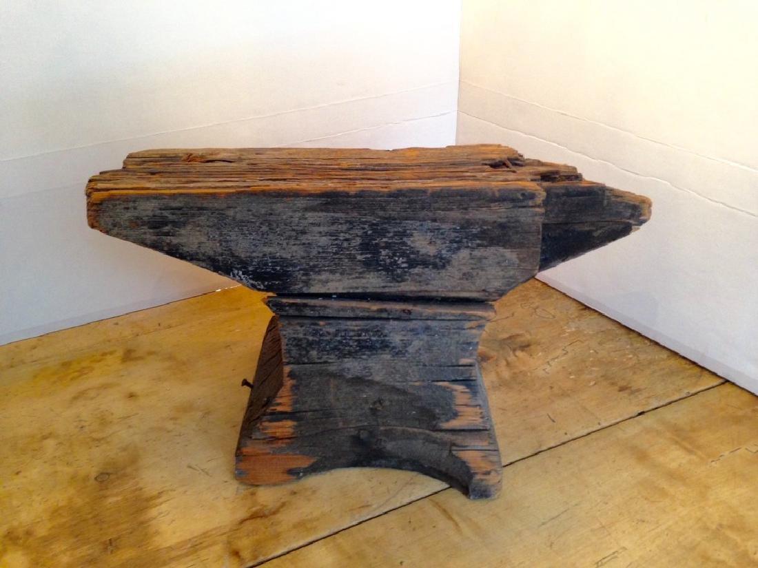 C1800 Wooden Anvil Blacksmith Trade Sign