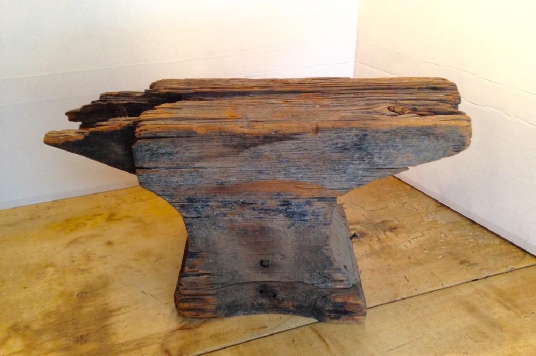 C1800 Wooden Anvil Blacksmith Trade Sign - 2
