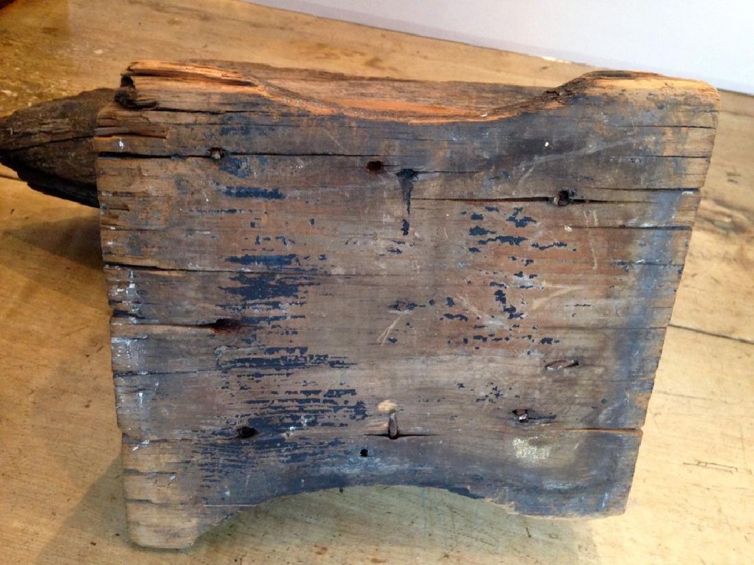 C1800 Wooden Anvil Blacksmith Trade Sign - 5