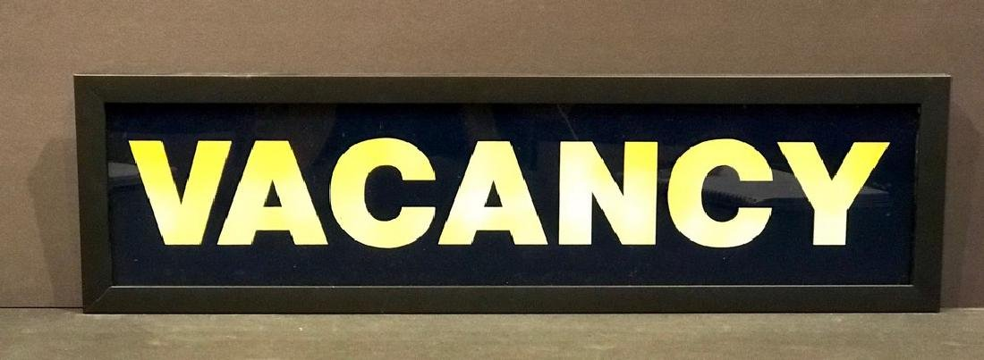 Vacancy Sign, Mid 20th Century