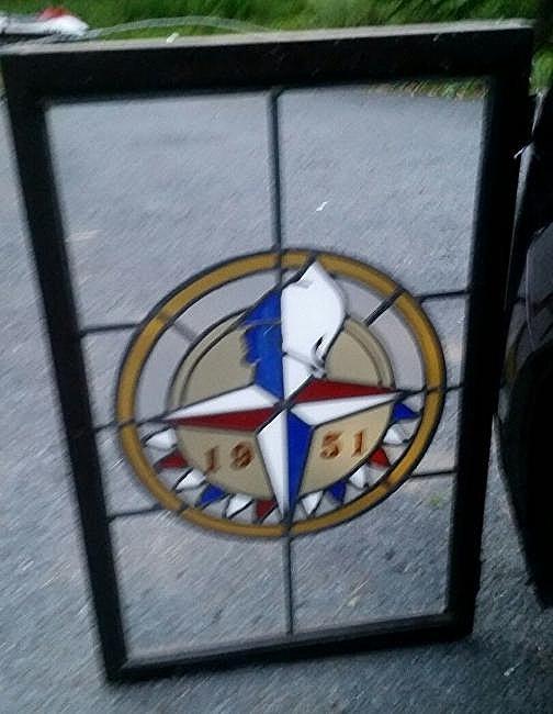 Chrysler Desoto 1951 Stained Glass Dealership Emblem