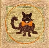 Felix the Cat Hooked Rug, C. 1930s