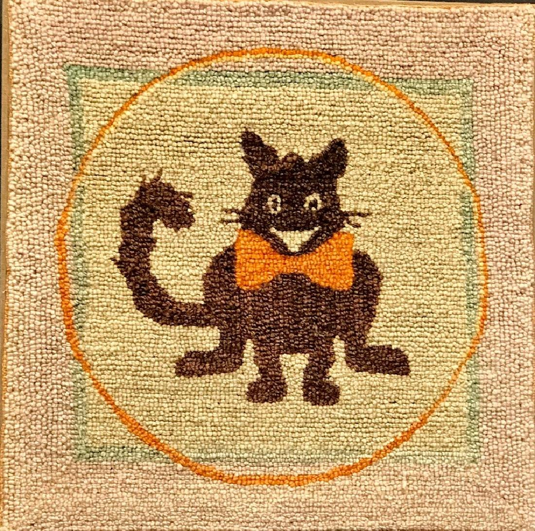 Felix the Cat Hooked Rug, C. 1930s
