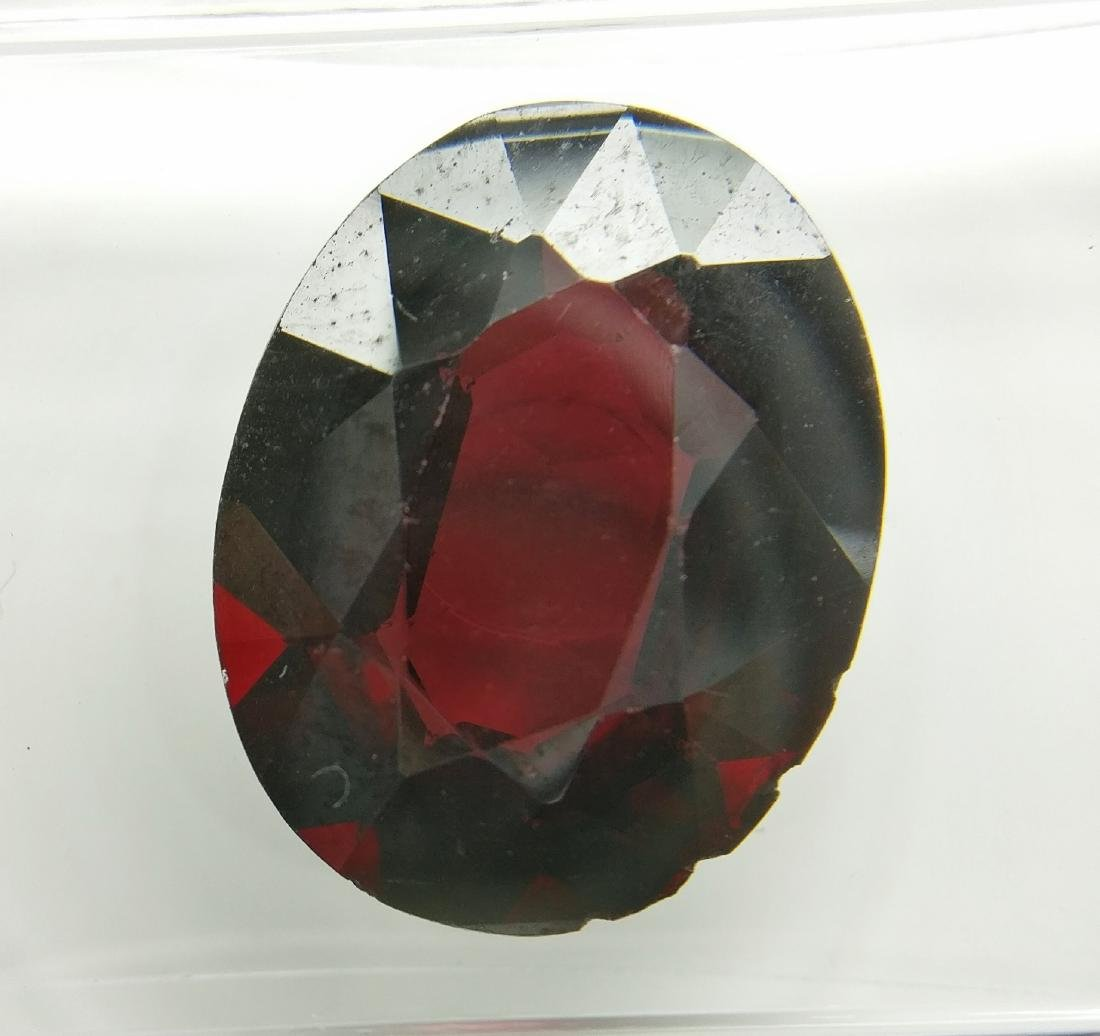 Almandine Dark Violetish Red 5.62 ct